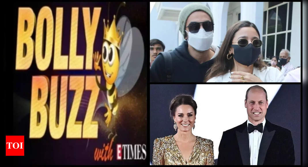 Bolly Buzz: Ranbir Kapoor shields ladylove Alia Bhatt at Jodhpur airport; Kate Middleton steals the show at 'No Time To Die' premiere | Hindi Movie News